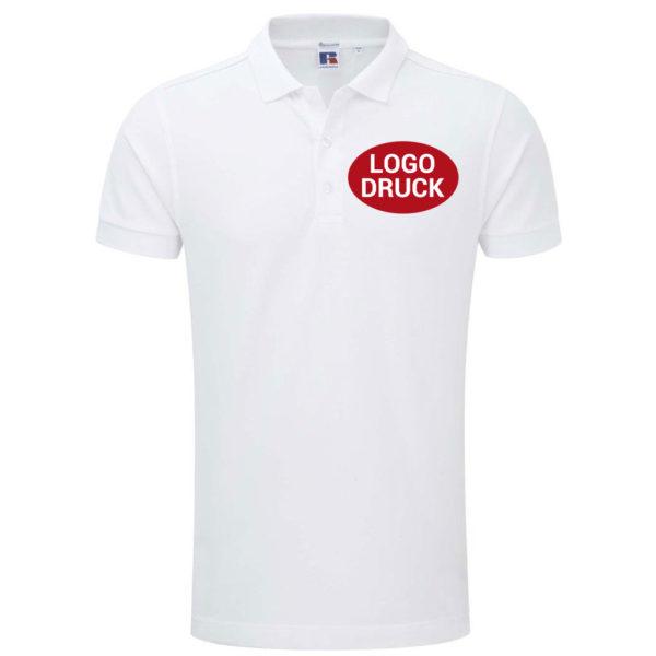 Körperbetontes Herren Stretch Poloshirt mit Druck