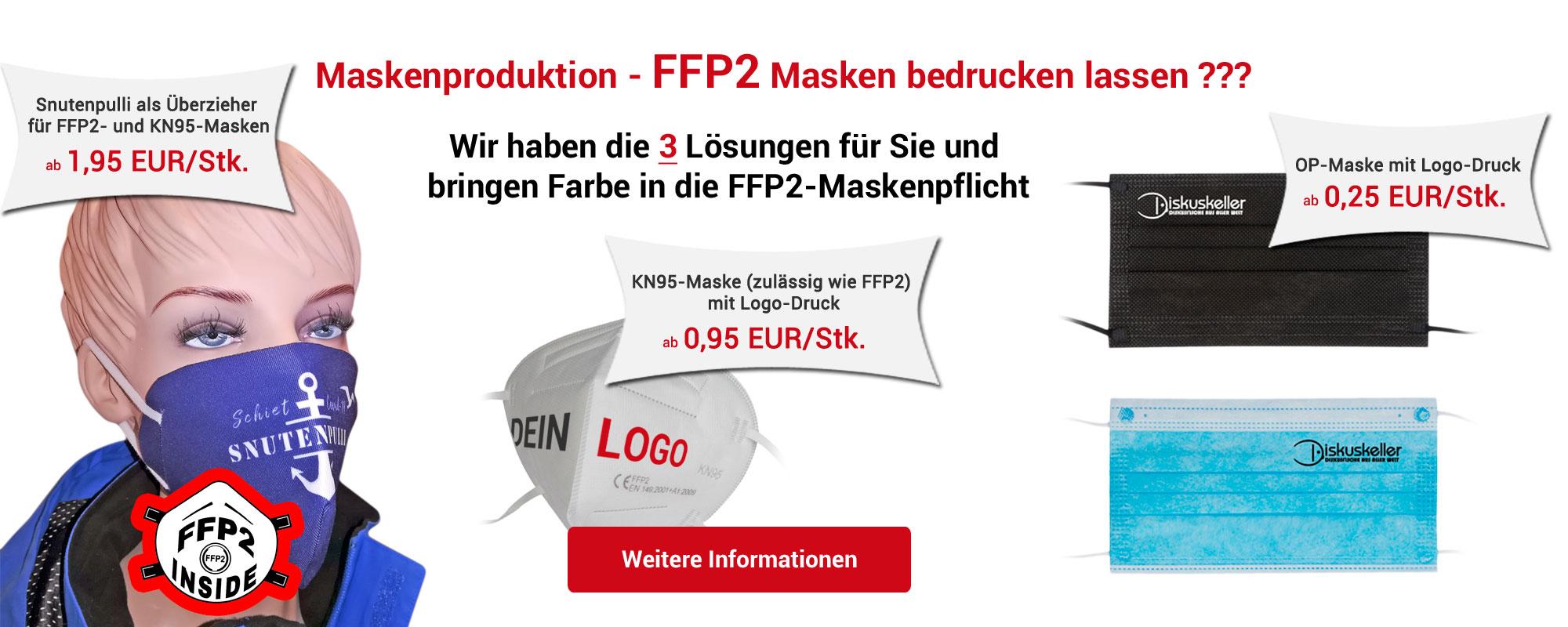 FFP2 Masken bedrucken lassen